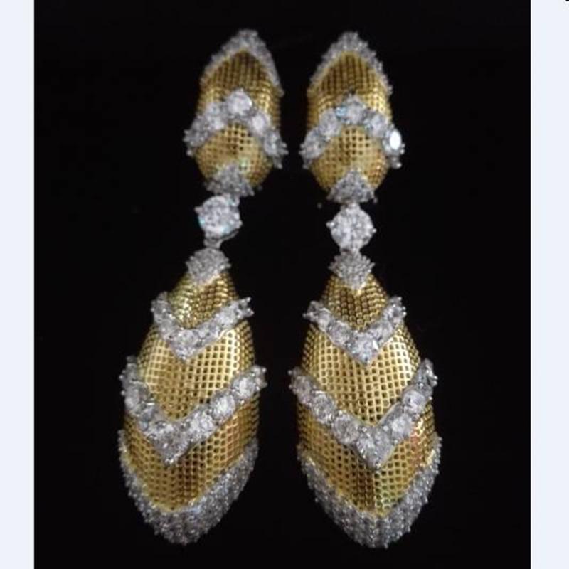 2017 Orecchini Qi Xuan_Jewelry_luxury Golden Bees Nest Brand Earrings_Solid Silver Luxury Earrings_Factory Directly Sales 2017 Orecchini Qi Xuan_Jewelry_luxury Golden Bees Nest Brand Earrings_Solid Silver Luxury Earrings_Factory Directly Sales