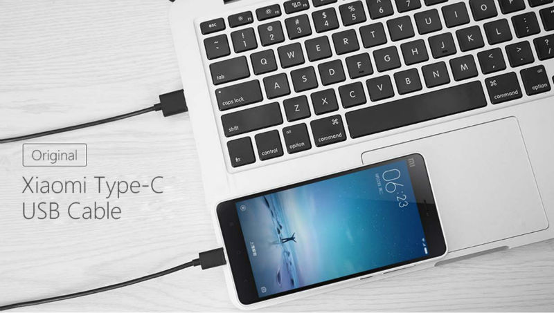 Original Xiao mi USB Type-c Data Cable for Xiaomi mi5 Xiaomi Mipad 2 Xiaomi 4C