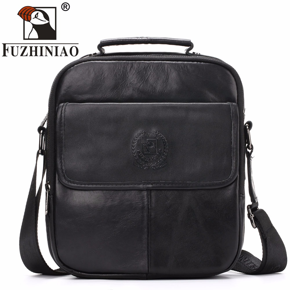 FUZHINIAO Brand Men Genuine leather Handbag Messenger Bags Business Crossbody Shoulder Bag Casual briefcases Male travel bags men shoulder bags genuine leather vintage male business messenger bags vogue multifunction casual travel crossbody pack rucksack