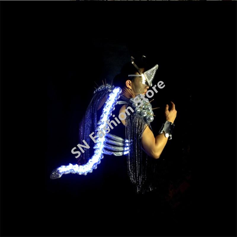 WX20 Mens Singer keel tail clothes ballroom dancing font b clothing b font bar party dj