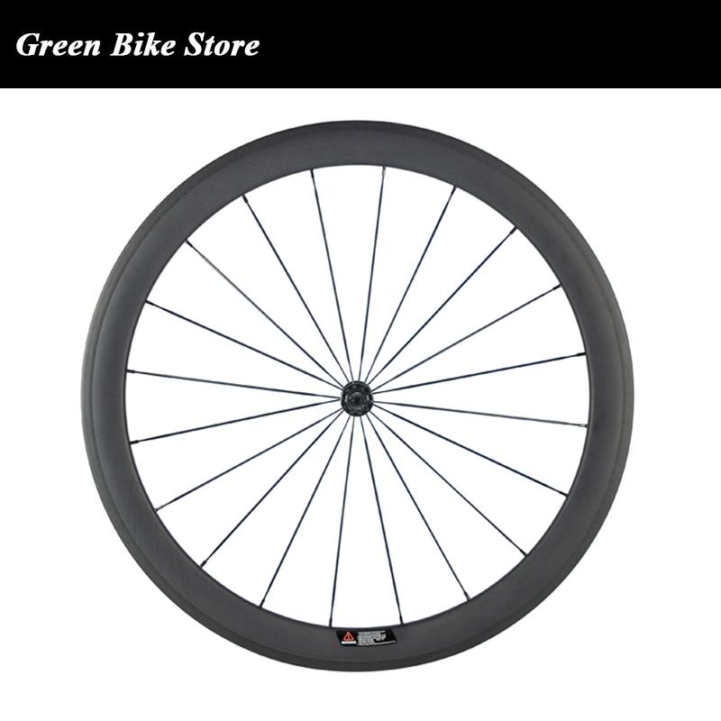 Carbon Fiber Road Bike Wheels Front Wheel 700C Clincher Wheelset 50mm matte Rear Wheel 23mm Width