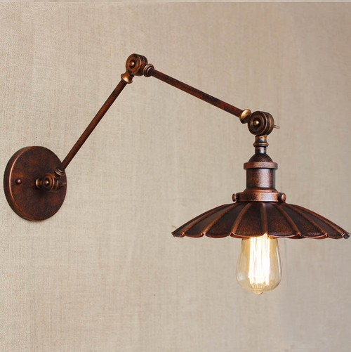 Industrial Loft Style Edison Wall Sconce Vintage Wall Lamp Iron Art Wall Light Fixtures For Home Lighting Lamparas De Pared loft style edison decorative wall sconce mirror wall light fixtures vintage industrial lighting wall lamp for home lampara