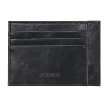Minimalist Vintage Designer Small Thin Mini Wallets Men Genuine Leathe