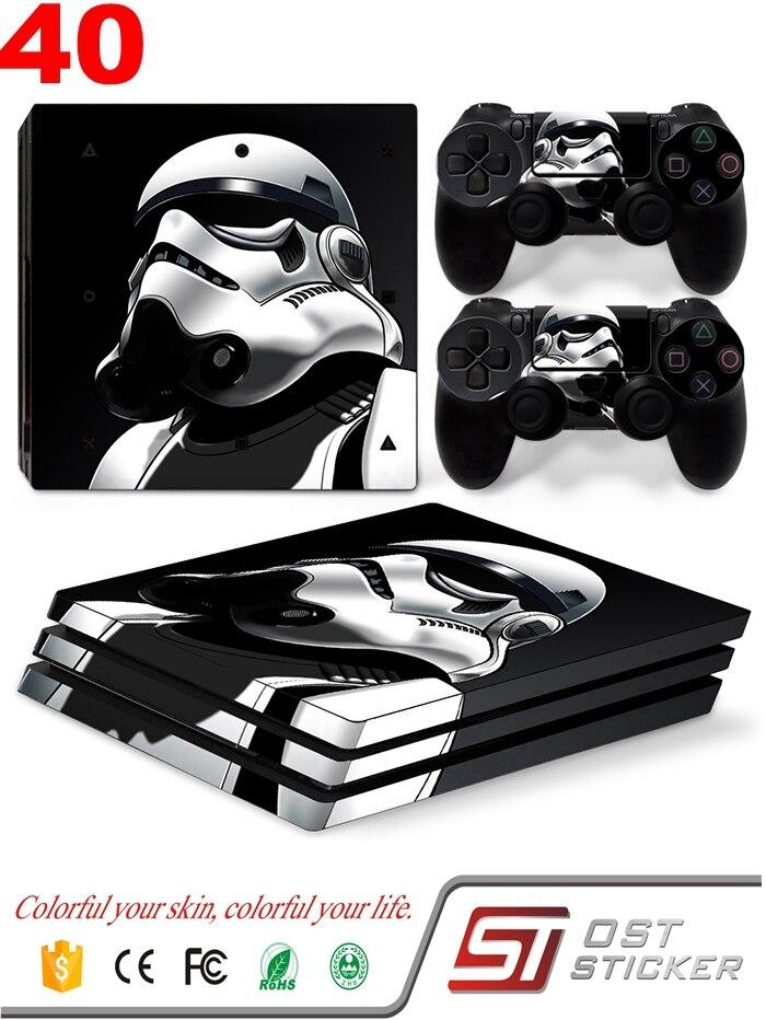 OSTSTICKER OSTSTICKER Star Wars Vinyl Game Skin Cover For Sony Playstation 4 PRO Console Decal + 2pcs Controller Skin Sticker