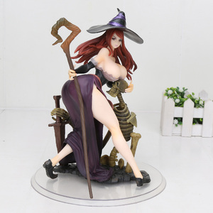 24cm Japanese Anime Figure Orchid Seed Dragon's Crown Witch PVC Action Figure Model Toys Gift(China)