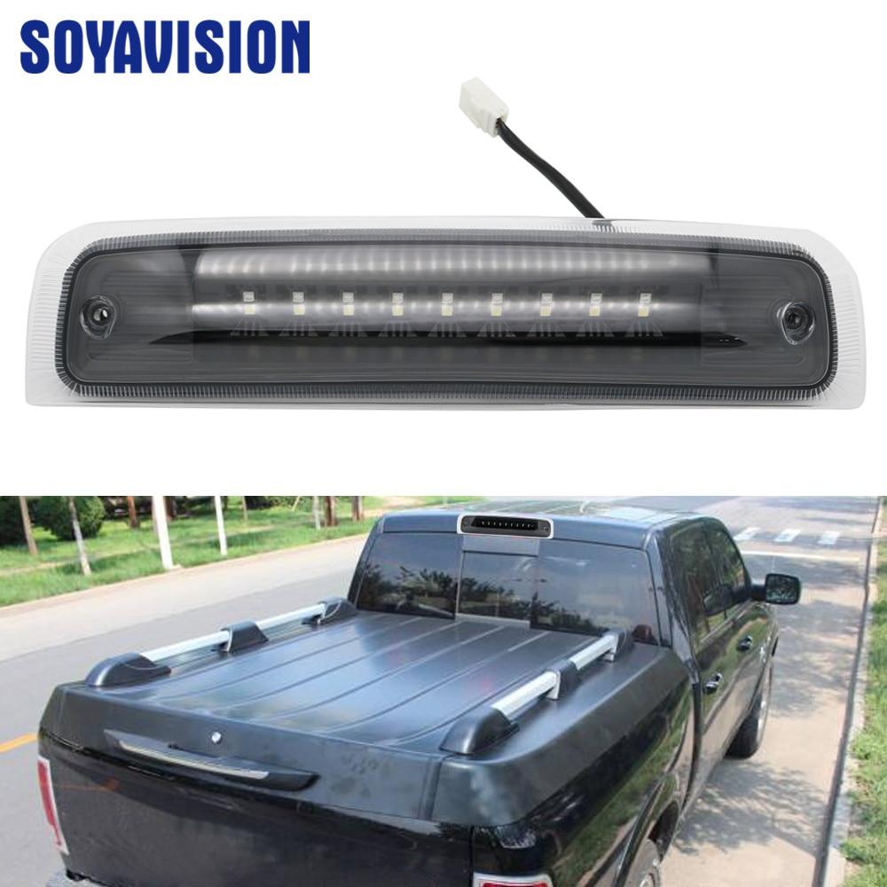 Smoke Car LED Rear Brake Light Tail Light Stop Light DRL Lamp For 2009-2017 For Dodge Ram 1500 2010-2017 2500 3500