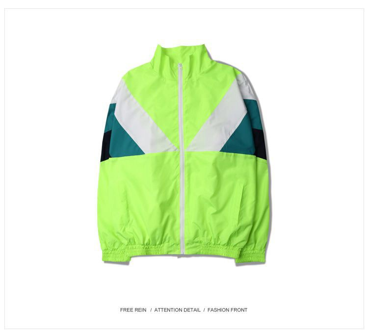 Men Jacket Gosha Rubchinskiy Classic Navy Tricolor Sport Long sleeve Windbreaker Jackets Hiphop Skateboards Couples Outwear S-XL (5)