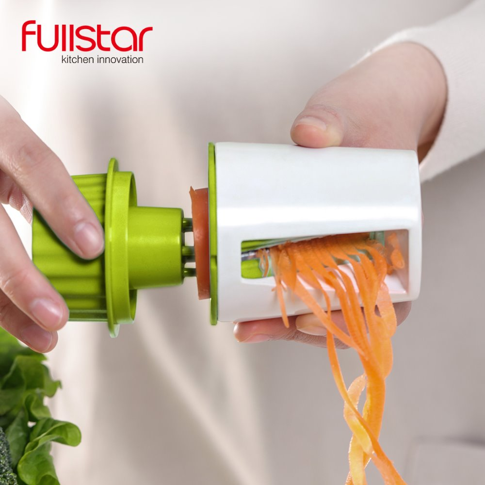 Vegetales frutas Spiral Shred Dispositivo de proceso Cutter Slicer Peeler herramienta de cocina Spiralizer ralladores cortador herramienta de cocina Gadget