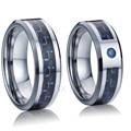 Навсегда любовь кольцо синий cz карбида вольфрама кольца ювелирные изделия для пары бижутерии жизни коллекция