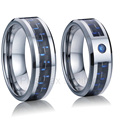 forever love ring blue cz diamond tungsten carbide rings jewelry wedding band for couples bijoux lifetime collection