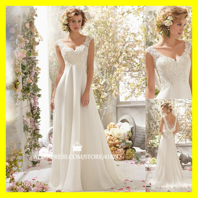 US $179.0 |Hippie Wedding Dress Beach Bridesmaid Dresses Baby Bohemian  Informal Plus Size A Line Floor Length None Beading Swe 2015 On Sale-in  Wedding ...