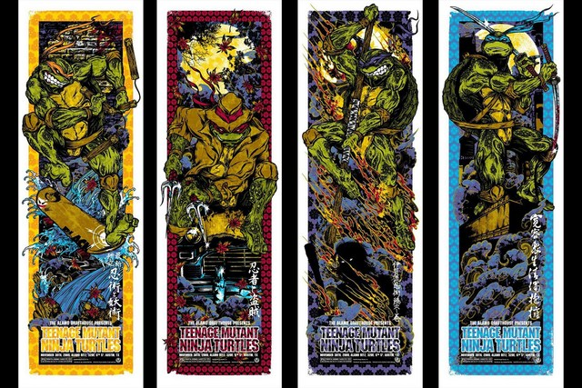 Home decoration Teenage Mutant Ninja Turtles comic art comics Silk Fabric Poster Print DM821