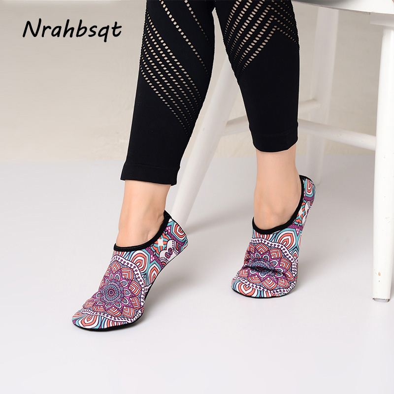 Beautiful Nrahbsqt Ultralight Professional Yoga Non-slip Shoes Socks Indoor Ballet Dance Pilates Printed Yoga Socks Women Ss034