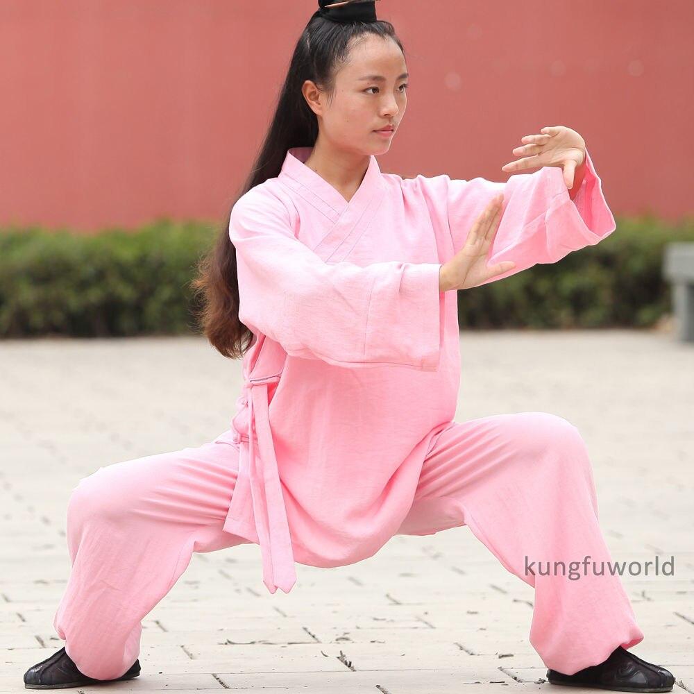 Custom Make 24 Colors Women's Daily Training Martial Arts Tai Chi Suit Wing Chun Martial Arts Shaolin Uniforms