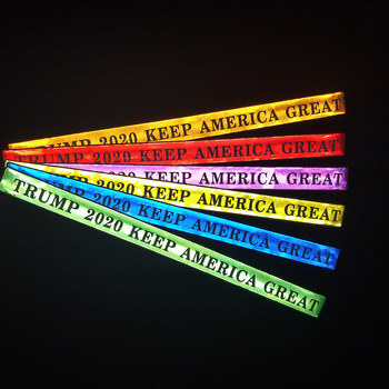 TRUMP 2020 Keep America Great Reflective Slap Bands