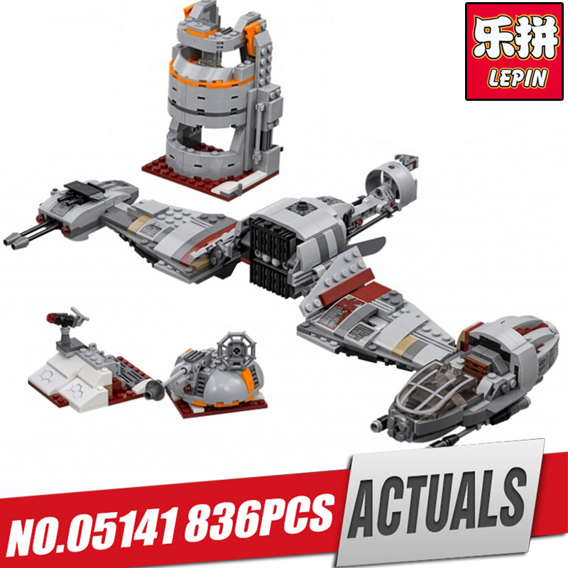 Lepin 05141 836Pcs Star Plan Series The Defense Of Crait Set 75202 Building Blocks Bricks Educational Toys For children As Gift black pearl building blocks kaizi ky87010 pirates of the caribbean ship self locking bricks assembling toys 1184pcs set gift