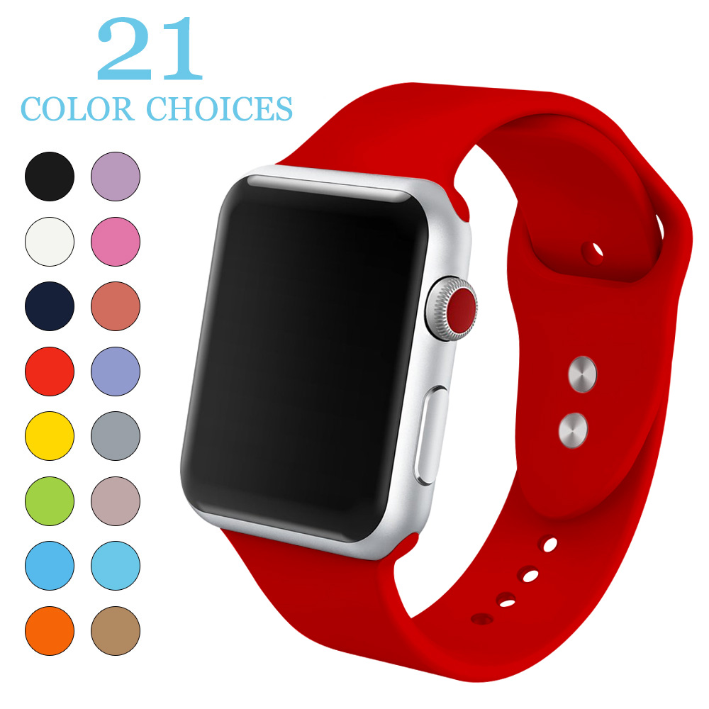 soft Silicone Sports Band for Apple Watch Series 1 Series 2 Series 3 38MM 42MM Rubber Watchband