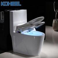 Koheel умное сиденье для унитаза умывальник удлиненные электрическое биде крышка смарт биде туалет стульчики Детские Отопление сидит свет Wc