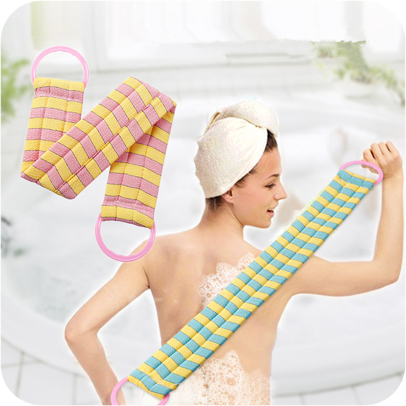 1pc Strong Rubbing Towel Long Adult Pull Back Bath Strip Bath Rubbing Towel Bath Bar Body Massage Brush ...