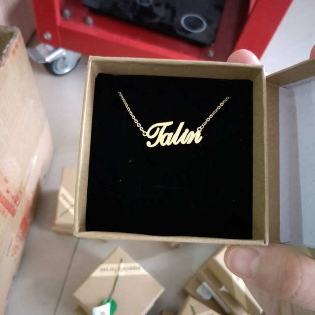 Handmade Jewelry Any Personalized Name Necklaces Women Men Silver Gold Rose Choker Custom Necklace Engraved Bridesmaid Gift Idea