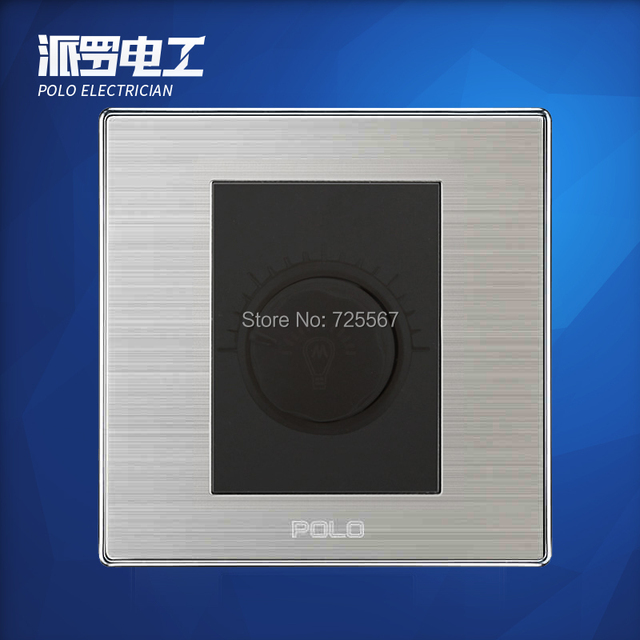 wholesale polo luxury wall switch panel light switch dimmer switch champagne black 10a 110 250v. Black Bedroom Furniture Sets. Home Design Ideas