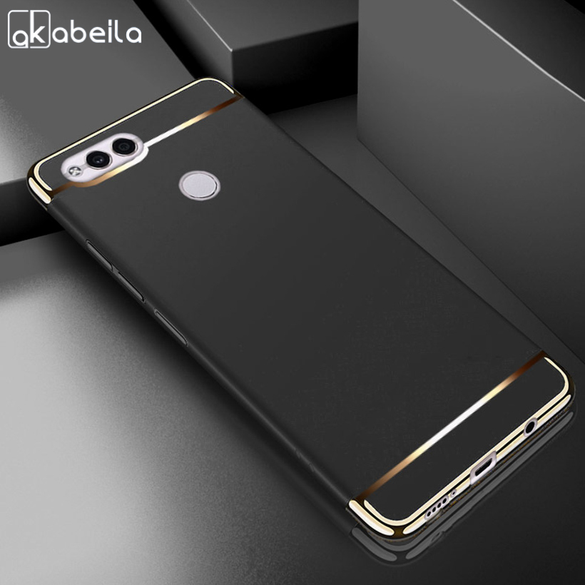 AKABEILA Plating Plastic Case For Huawei Honor 7X Cases Back Cover For Huawei Mate SE 5.93 Inch Coque Funda Anti-Knock Etui