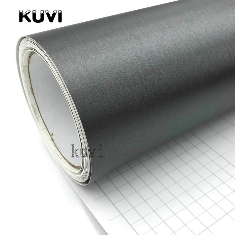 Image 2 - 10cm/20cm/30cmx152cm Car Styling Grey Metallic Brushed Aluminum Vinyl Matt Brushed Car Wrap Film Sticker Decal With Bubble-in Car Stickers from Automobiles & Motorcycles