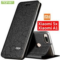 Xiaomi Mi 5x Case Silicon Back Cover Mofi Original Xiaomi 5x Case Luxury Flip Leather TPU
