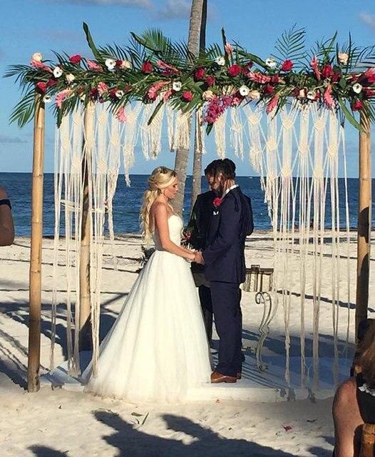 Wedding Arch Bohemian Macrame Wedding Arch Wedding Backdrop