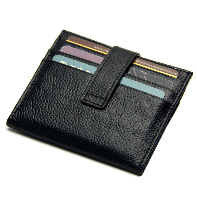 41ab2d1549c8 Genuine Leather ID Credit Card Holder Name Cards Cover Case Box Wallet Coin  purse