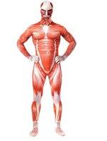 Cool Attack On Titan Cosplay Shingeki No Kyojin Cosplay Colossal Prop Tights Muscle Man Halloween Men