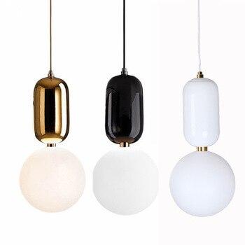 נורדי הפוסטמודרנית זכוכית כדור נברשת נדבק אמנות מוארק מנורת לפעול התפקיד ofing משרד מסעדה בר מנורה