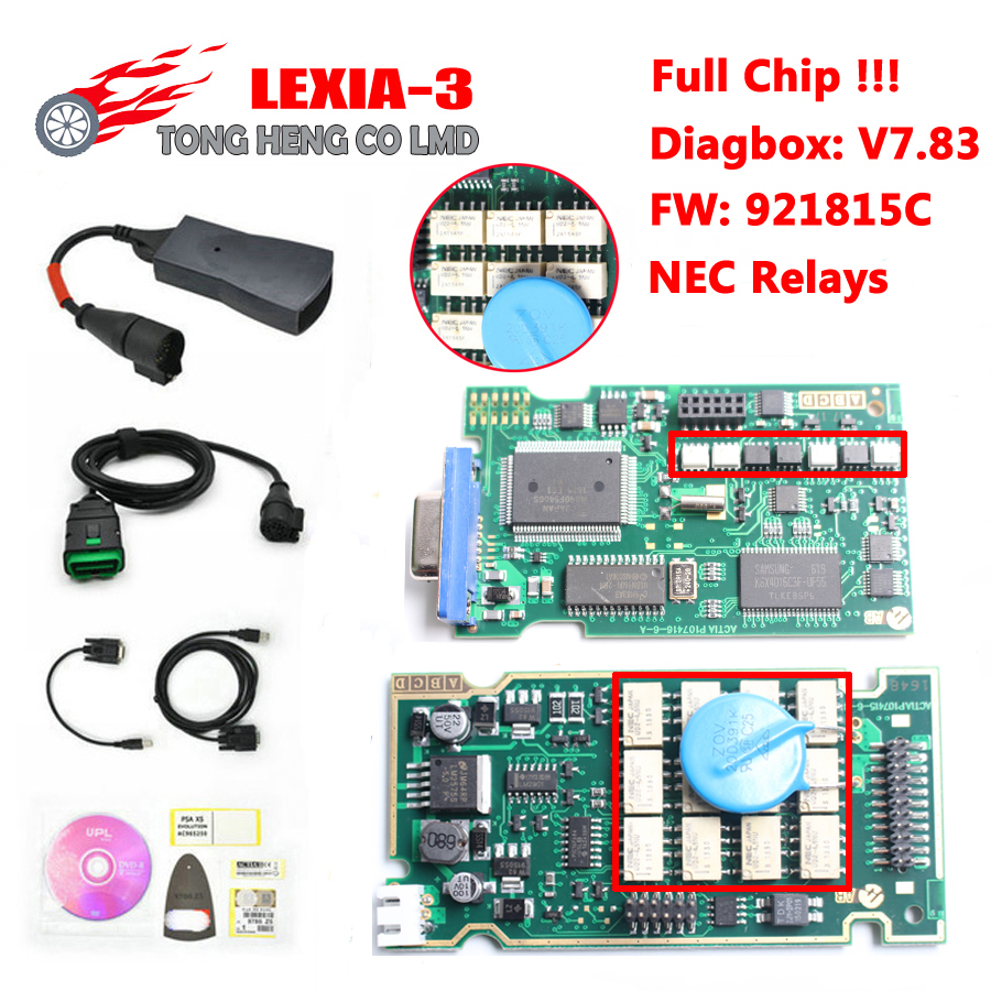 Best Lexia 3 Full Chip Lexia3 V48/V25 Newest Diagbox V7.83 PP2000 Lexia-3 Firmware 921815C Diagnostic Tool(China)