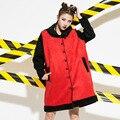 Повседневная Теплые Пальто для Женщин Плюс Размер Уличная Однобортный Свободные Длинные Траншеи Верхняя Одежда AW312