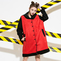 Casual Warm Trench Coat for Women Plus Size Streetwear Single Breasted Loose Long Trench Outerwear AW312