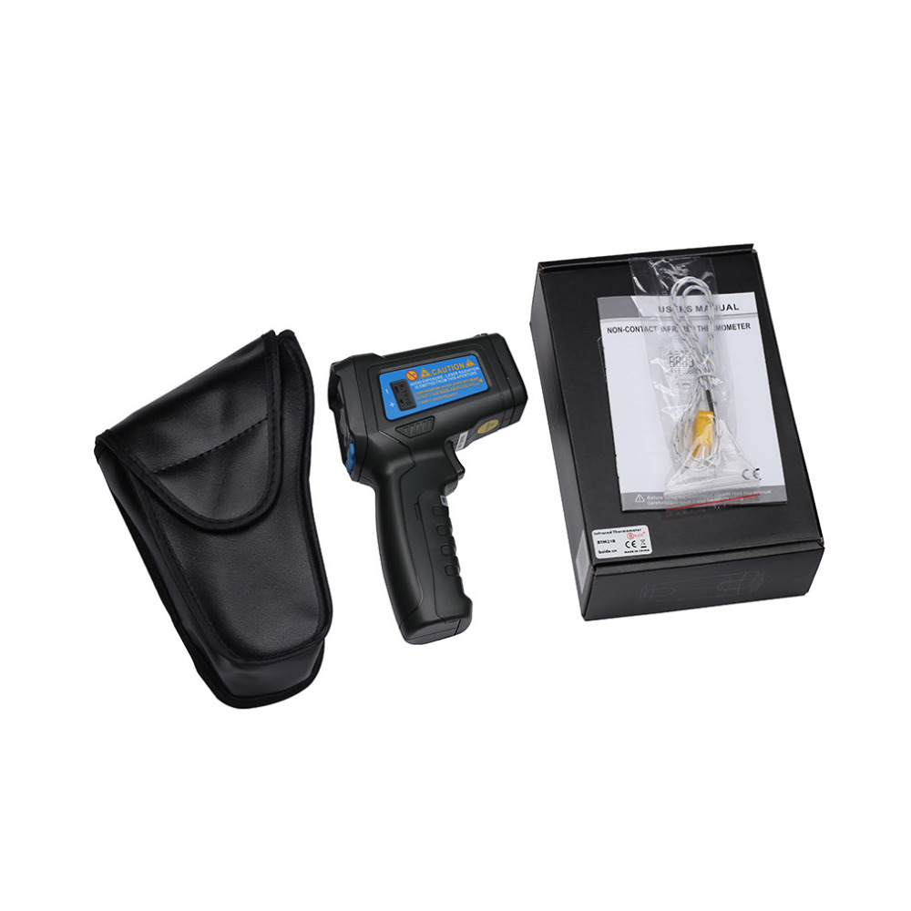 BSIDE BTM21C Infrared Thermometer Color Digital Non-contact IR Laser Thermometer K-Type -30-500 LED original xiaomi mijia ihealth thermometer accurate digital fever infrared clinical thermometer non contact measurement led shown