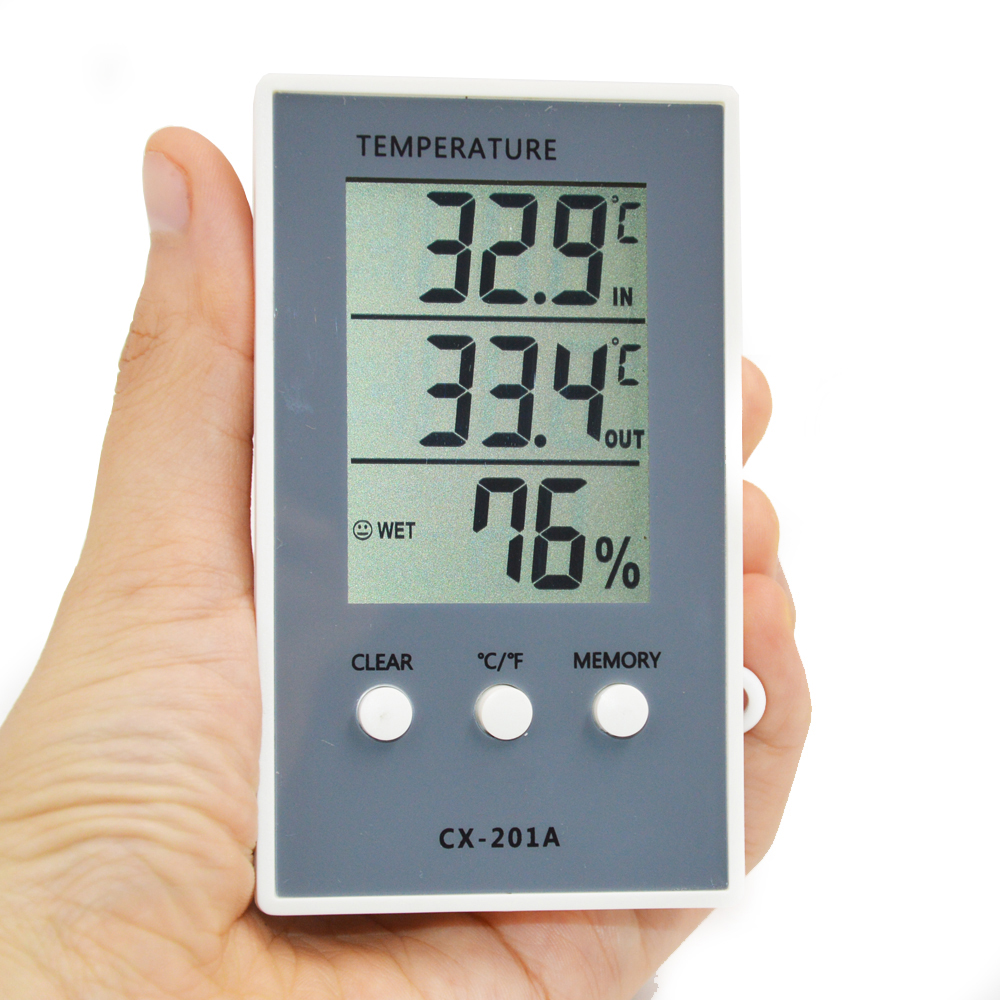Thermometer Hygrometer Measure Temperature Humidity Digital LCD Meter Indoor Outdoor Weather Station Tester C/F Max Min Value mini 2 0 lcd car indoor thermometer hygrometer black 10 c 50 c 20% 95% rh 1 x lr44