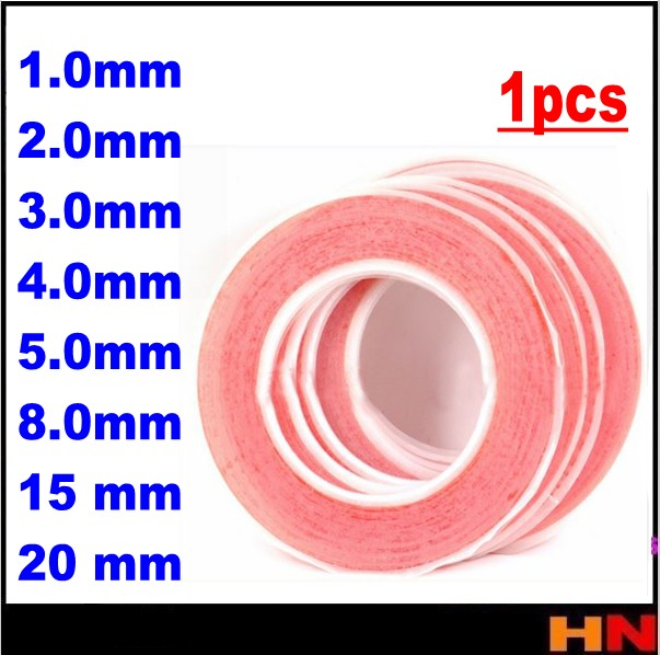 1pcs 25m High Quality Red Double Sided Faced Strong