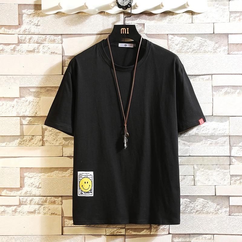 BQODQO 2019 T Shirt Men Fashion T-shirt Streetwear Male Tees Casual Japanese Summer Short Sleeve O-neck Oversized Cotton Fashion