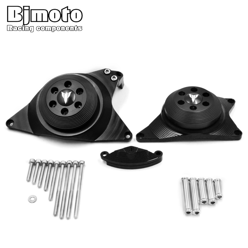 Bjmoto Motorcycle moto MT-09 FZ-09 Engine Stator Case Cover Engine Protective Cover Protector For Yamaha MT09 FZ09 2013-2017 motorcycle engine cover protection case for mt 09 mt09 fz 09 fz09 2013 2017