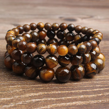 Ling Xiang 4/6/8/10/12mm natural Jewelry AB tigers-eye stone beads bracelet be fit for men and women  ACC(accesory) amulet