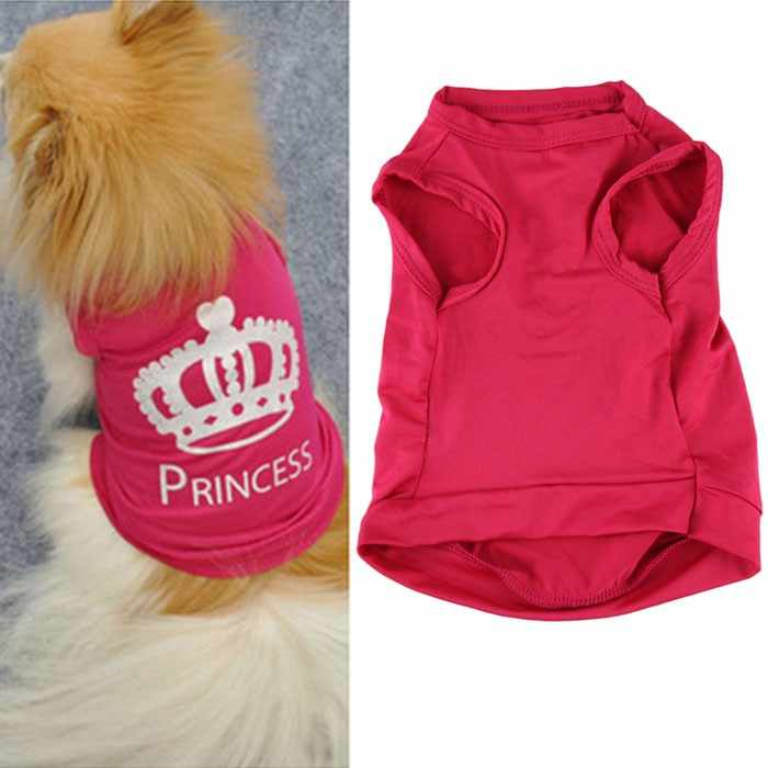 Fashion Pet Dog clothes Cute Princess T-shirt Clothes Vest Summer Coat Puggy Costumes New and high quality  clothes