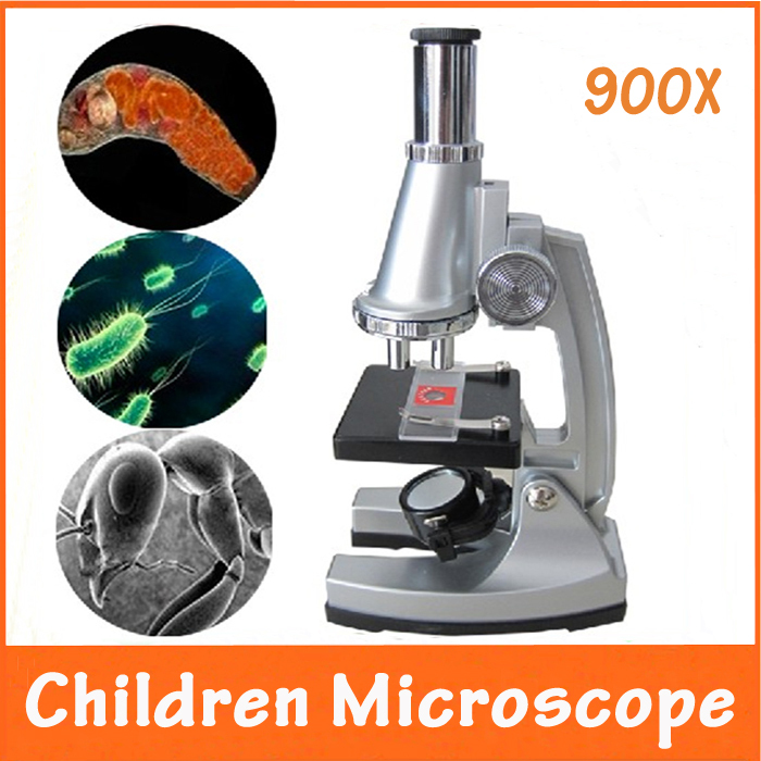 100x 400x 900x Birthday Gift Toys Educational Illuminated Student Toy Children Biological Microscope With 12pc Prepared Specimen In Microscopes From Tools
