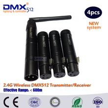 DHL Free Shipping Wireless DMX 1 sender 3 receiver