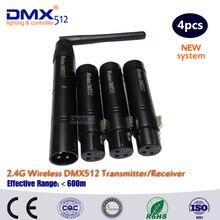 Dhl frete grátis sem fio dmx 1 remetente 3 receptor controlador