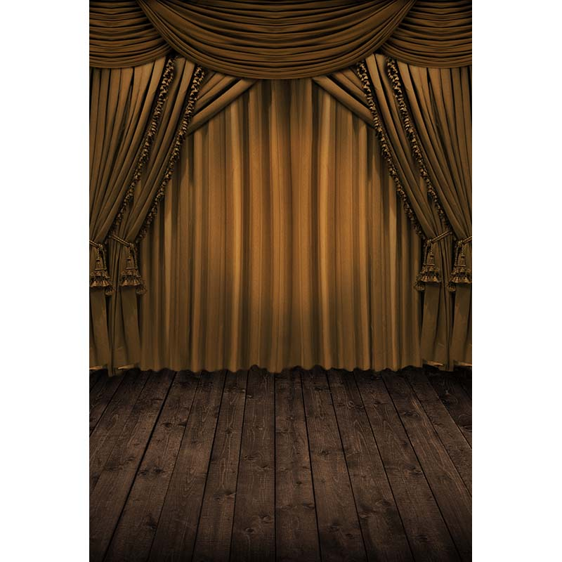 Brown curtains photography backdrops vinyl drama stage photo background for photo studio background photophone CM-2536