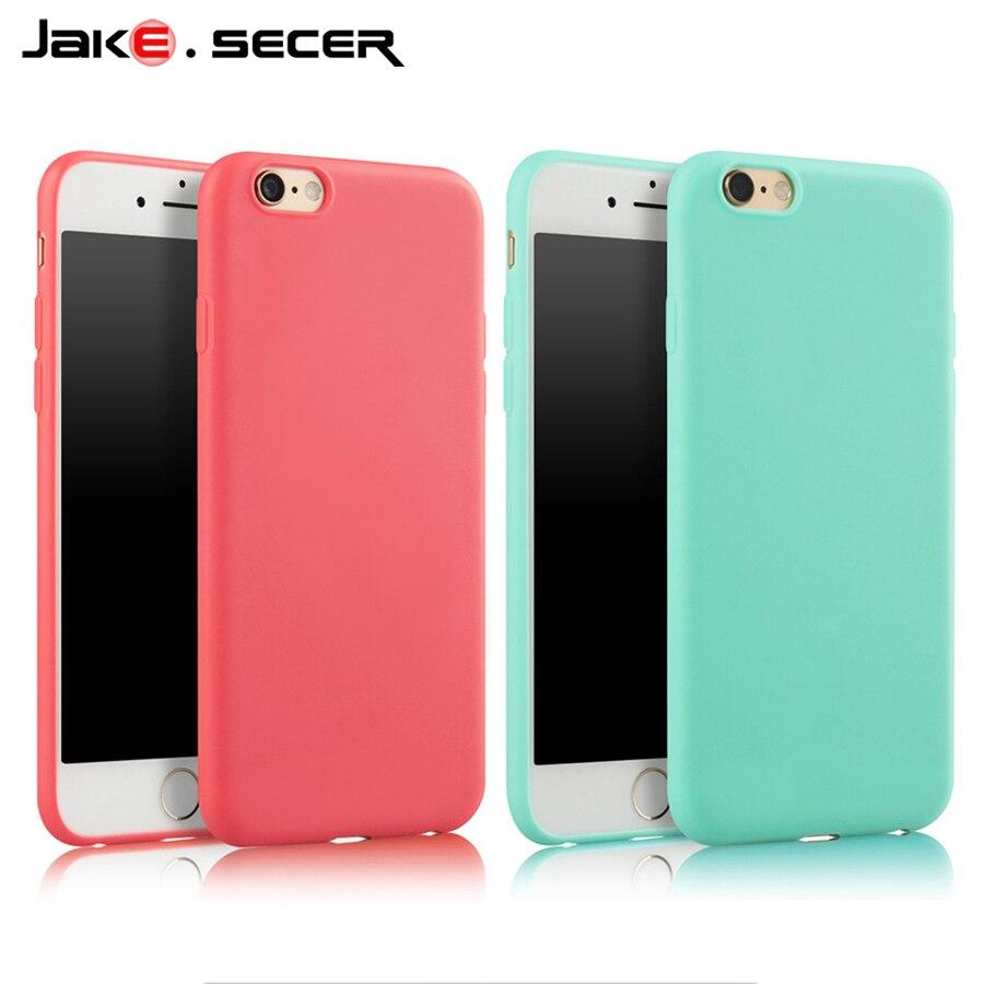 Mode solide couleur mince Silicone souple meilleure Coque couverture pour Apple iphone 6s 5 6 s