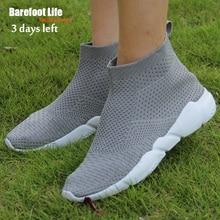 New Popular High Elastic Material Women Men Shoes Grey Female Male Sneakers Comfort Outdoor Jogging Walking Footwears Breathable