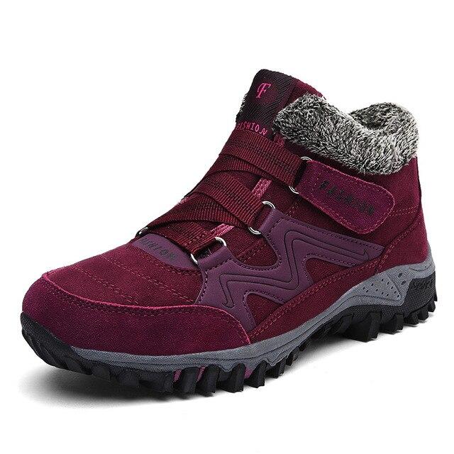 Frauen Schnee Stiefel Winter Schuhe Warme Plüsch Krasovki Stiefeletten 2018 Marke Weibliche Casual Schuhe Keil Schnee Sexy Stiefel Wasserdicht