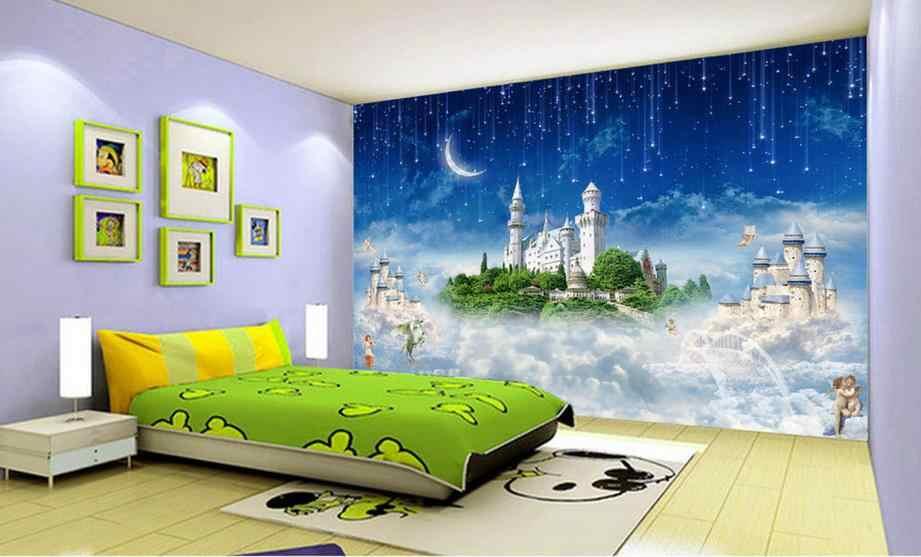 Papier peint 3d personnalisé luxe ciel ville mythe 3d photo papier peint salon salle de bains peinture murale non tissé papier peint moderne